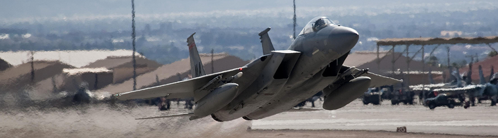 F-15 during Red Flag at Nellis